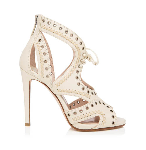 Miu Miu lace-up sandal 繆繆涼鞋 $850 At  Holt Renfrew