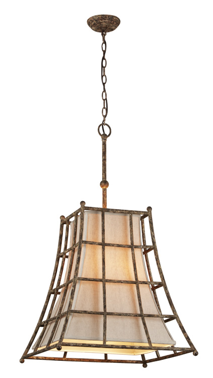 The Lighting Warehouse Five Light Pendant, $725 金屬外框被製作出斑駁的鏽跡,與天然的木材、石材紋理搭配,如點亮了一段過往的光陰。 At The Lighting Warehouse 604 270 339 thelightingwarehouse.com