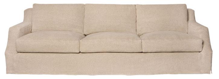Hayden Deluxe Sofa, $6,945 粗製布料總是親切又質樸,柔軟蓬鬆、輕鬆隨意的感覺讓人輕易沉浸在家的溫暖之中。 At Mint Interiors, 604 564 0422 shop.mintinteriors.ca