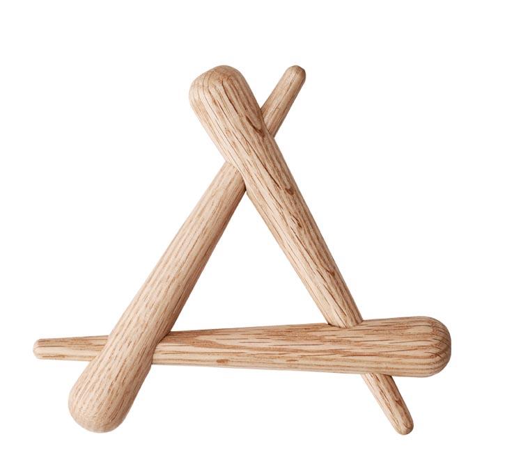 Timber Trivet Oak, $33 三角置物架 At espace d.,  espacedonline.com , 604 662 3008