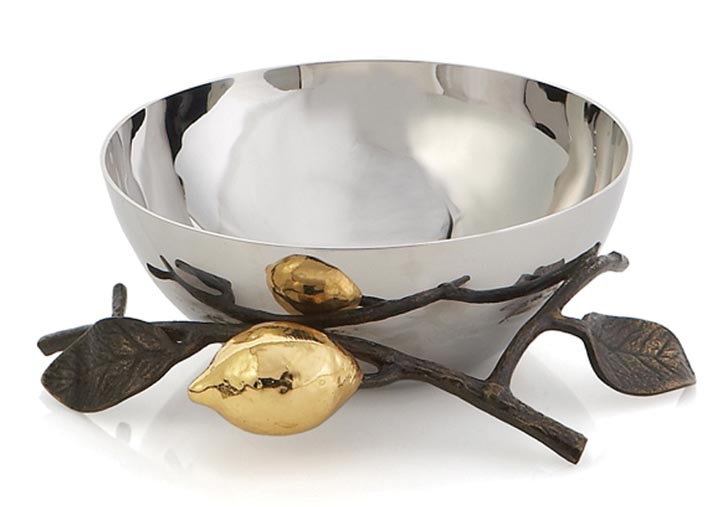 Michael Aram Lemonwood Nut Dish 不銹鋼零食碗 At Atkinson's,  atkinsonsofvancouver.com,  , , 604 736 3378