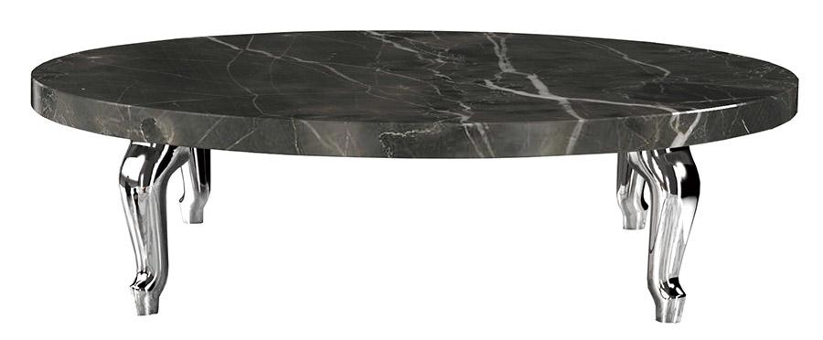 Moooi Bassotti Coffee Table, Starting at $900 黑色的大理石桌面,儼然一副天然的水墨畫,與古典造型的金屬桌腿共同營造出優雅與華麗。 At Livingspace, (877) 683-1116 livingspace.com