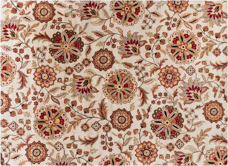 Moe's Athena Rug, $1,185   華麗精美的花朵圖案編織在100%純羊毛地毯上,盛開出滿屋的溫暖和絢麗。   At Moe's Home Collection, 604 687 5599    www.moeshome.ca