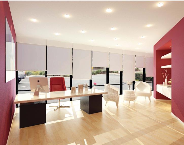 泥土色同紅色的搭配,讓空間既有穩固的根基,又有創意的火花,最適合設計類的公司。