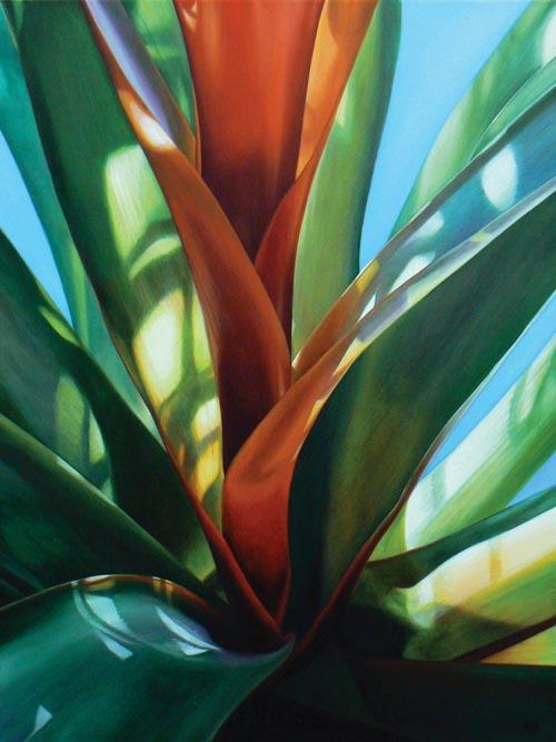"Glow 2009, oil on canvas, 40 x 30"""