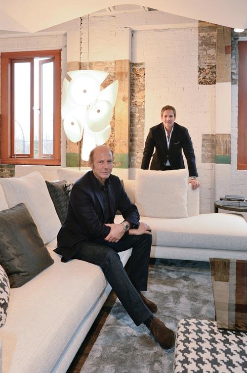 Renato Minotti(前)和Roberto Minotti(後)在最近對溫哥華LivingSpace家居店訪問時談論他們有關設計、質量和生活的哲學。