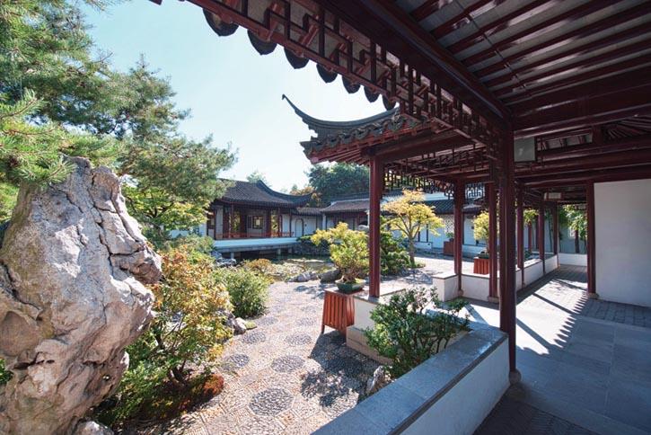 中山公園中的經典中國南方庭院