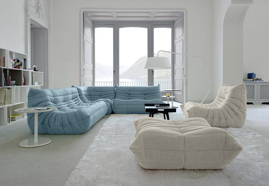 1970年,Michel Ducaroy成為Ligne Roset的第一位設計師。他從牙膏管中得到了靈感,設計出了至今依然廣受歡迎的Togo系列沙發。