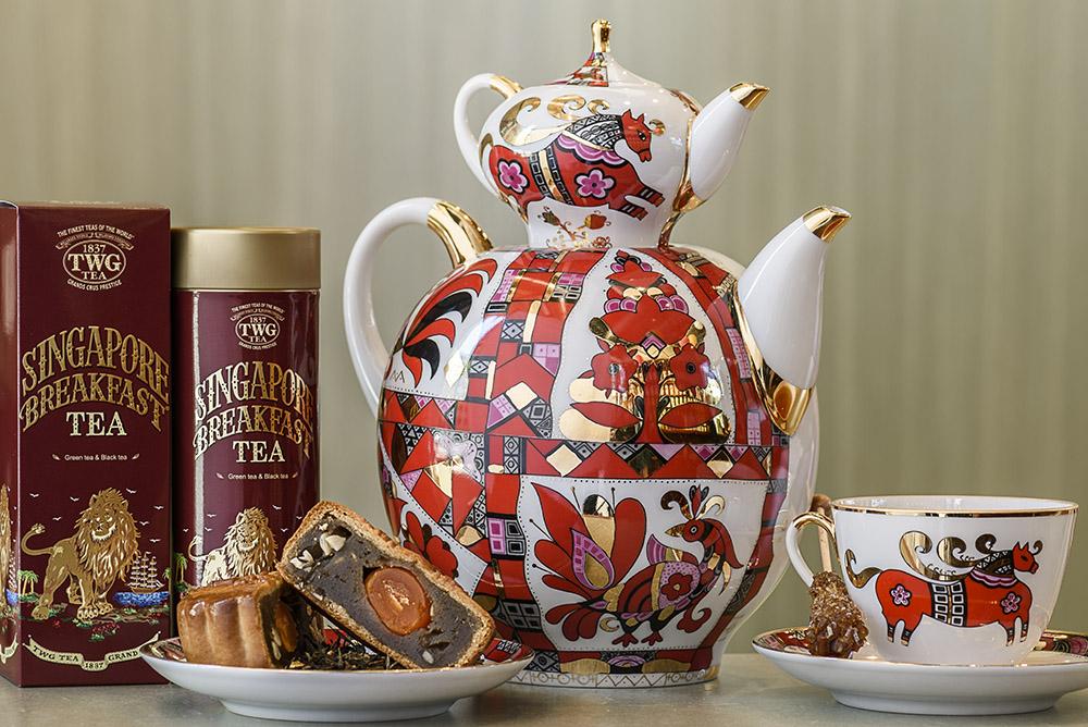 帶些微辣的香草香,這款茶讓鹹蛋黃與紅蓮蓉餡的月餅口感更富層次。