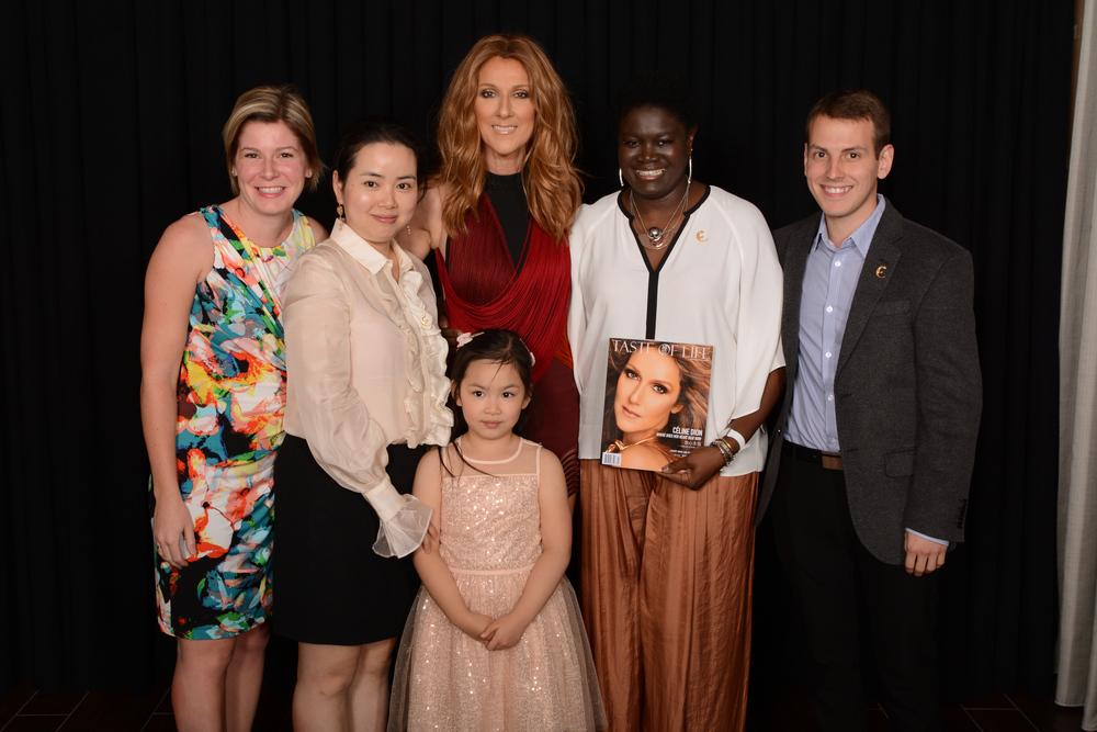 Celine Dion with Taste of Life Readers
