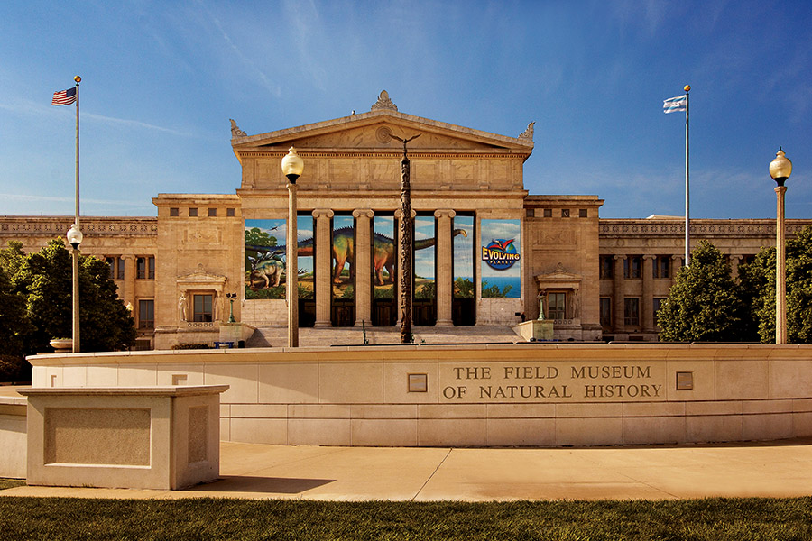 菲爾德自然歷史博物館北側入口。(©The Field Museum)