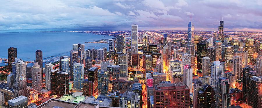 芝加哥市中心是美國現代和古典建築傑作的匯聚之地。(Songquan Deng/shutterstock.com )