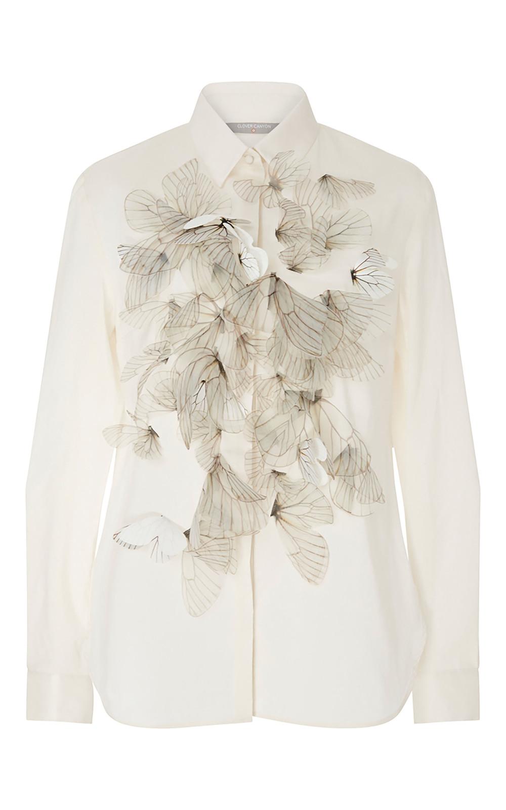 Clover Canyon立體蝴蝶裝飾襯衣  US$395