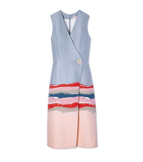 湯麗‧柏琦繪畫提花圖案裙子  US$895