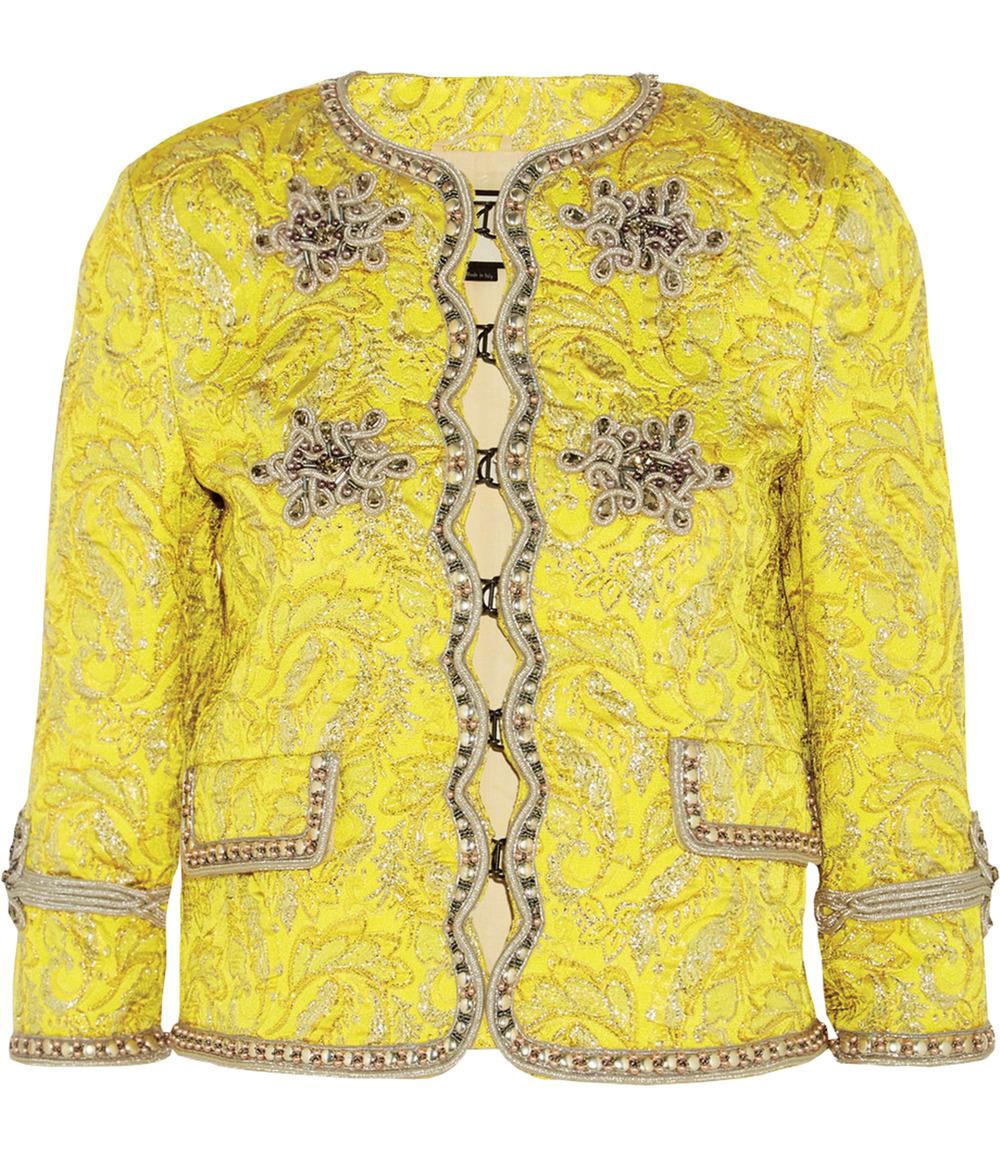 古馳銀線錦緞花紋上衣