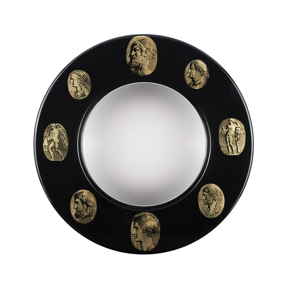 1.裝飾鏡 $1,526    黑色瑪瑙鏡框上鑲嵌的鍍金浮雕,充滿了復古的情懷。相信這款Fornasetti裝飾鏡一定會成為妳新古典主義居室的點睛之筆。    At  ca.amara.com