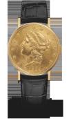 江诗丹顿腕錶 洽價店內    打開復古的金幣錶盤,便可以欣賞到瑞士名錶工藝打造的精緻機芯,時光就這樣被定格為流光溢彩的精準瞬間。   vacheron-constantin.com