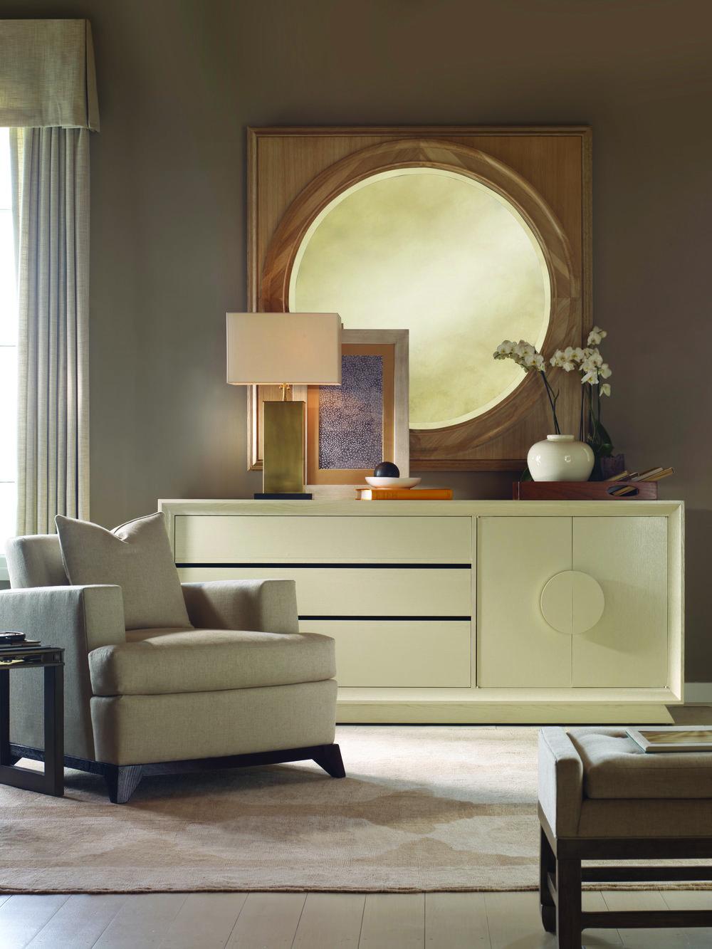 金色古董質感裝飾鏡Bernhardt Furniture Salon Mirror, Price Upon Request At Paramount Furniture, (604) 273-0155 paramountfurniture.ca