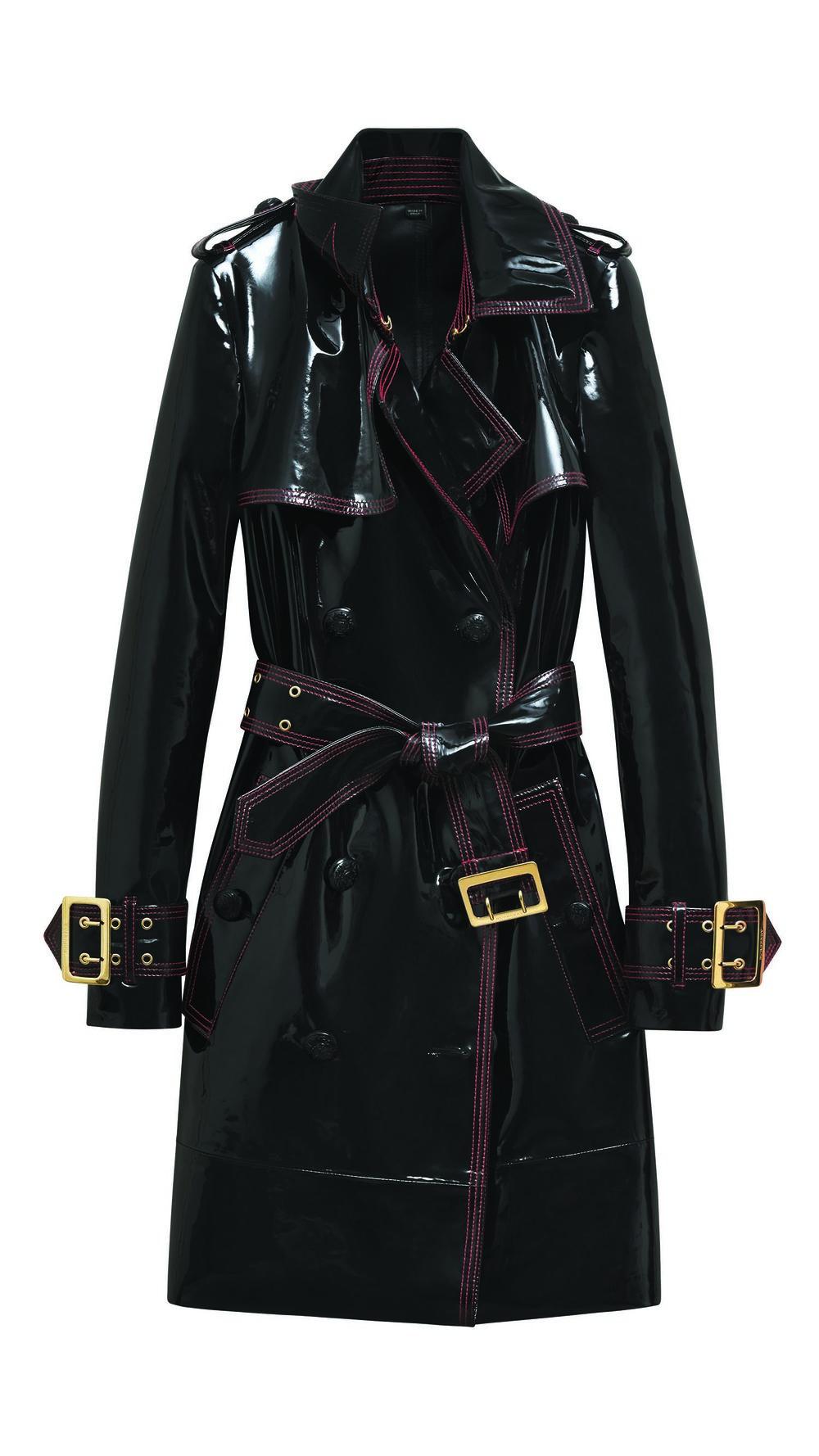 巴寶莉漆皮大衣 $6,250