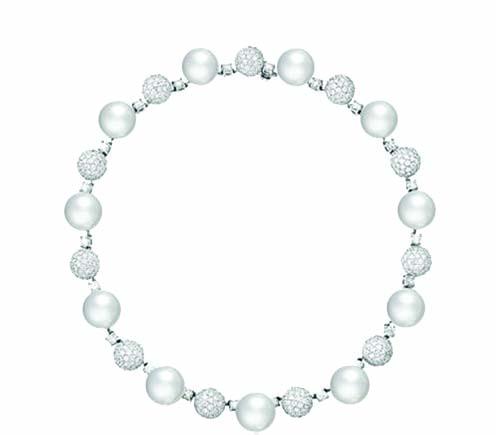 珍珠鑽石項鏈 Price Upon Request