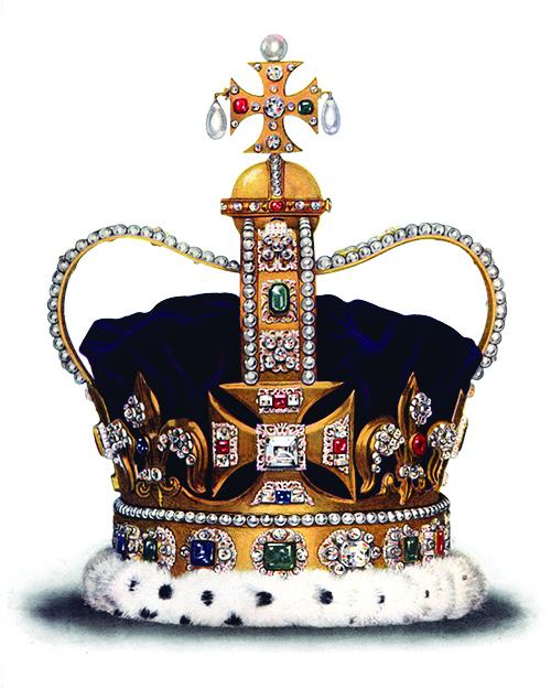 愛德華皇冠最早始於國王愛德華,後成為歷任英國國王加冕時所戴的皇冠;Wikimedia