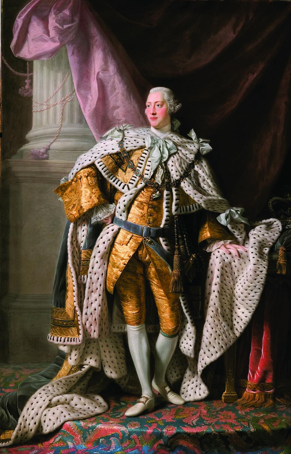 英國國王喬治三世1762年的肖像畫,由Allan Ramsay繪製。sloukam / Shutterstock.com