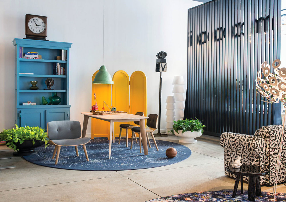 Moooi Tapered Table, starting at $3,369 Nut Lounge Chair, starting at $2,223 簡約木質餐桌和座椅 At Livingspace, (877) 683-1116,  livingspace.com