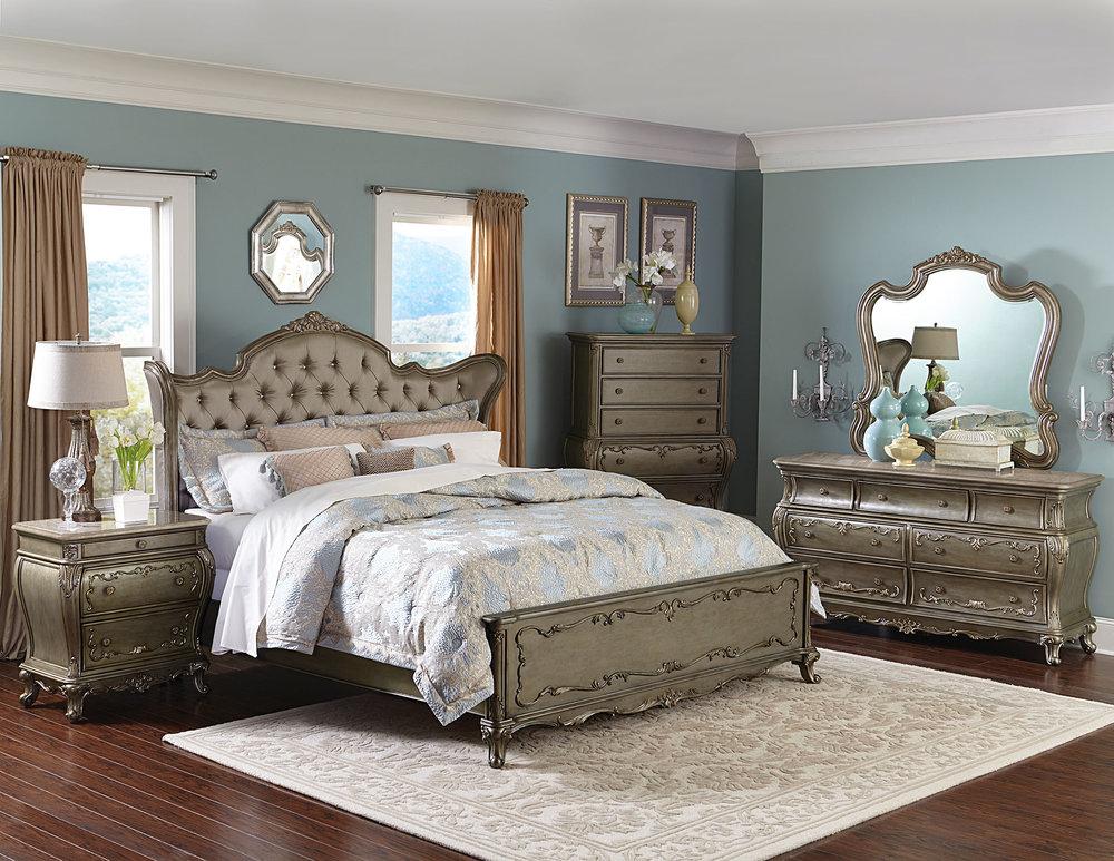 Decorium Eliana Queen Bed, $2,399 歐式復古裝飾床 At Decorium, (800) 232-2267,  decorium.com