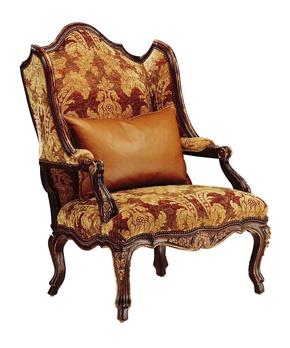 Marge Carson Palais Wing Chair, $5,795 歐式宮廷扶手椅 At Paramount Furniture, (604) 273-0155,  paramountfurniture.ca