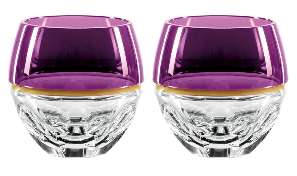 9. Pair of Elysian Amethyst Rocks Glasses by Waterford ‬$595,  waterford.com