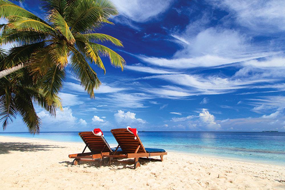 在加勒比的陽光照耀和海風吹拂中度過一個不同以往的節日。