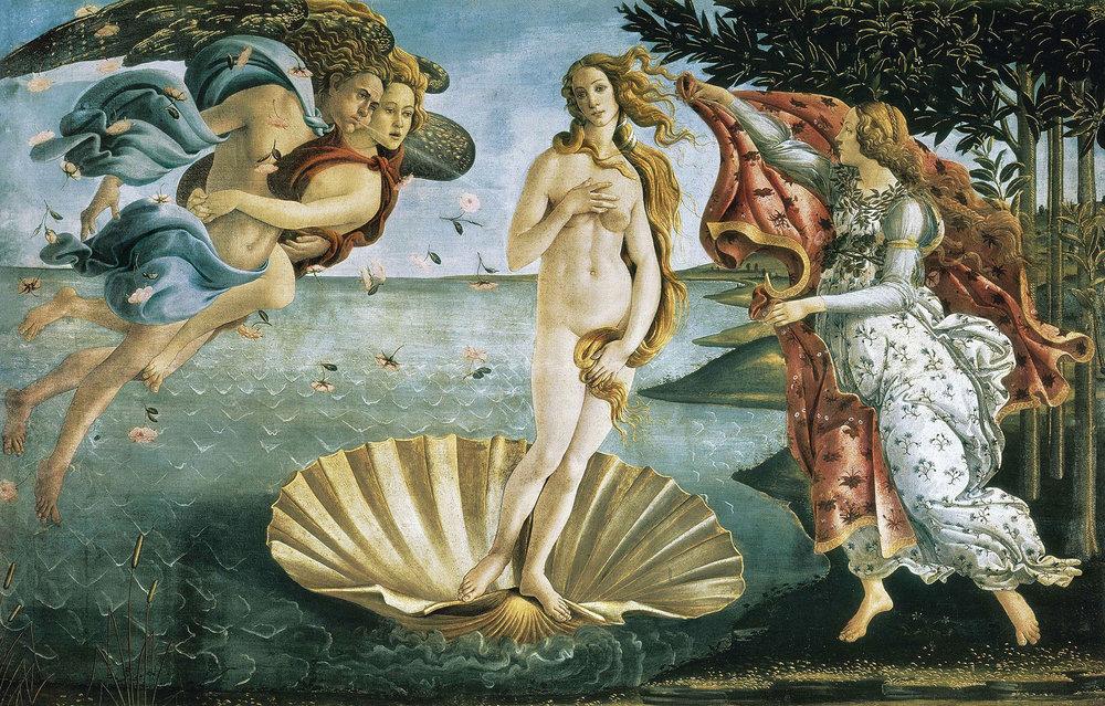 波提切利是文藝復興早期傑出的藝術家,他的代表作《維納斯的誕生》,最初被掛在一間臥室中過了整整五十年。Everett - Art / Shutterstock.com