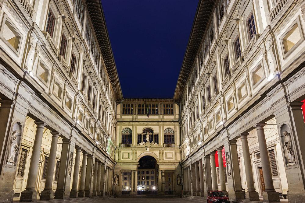 烏菲齊美術館的意大利文原意是「辦公室」,在科西莫一世時期曾是司法部門所在地。prosiaczeq / Shutterstock.com