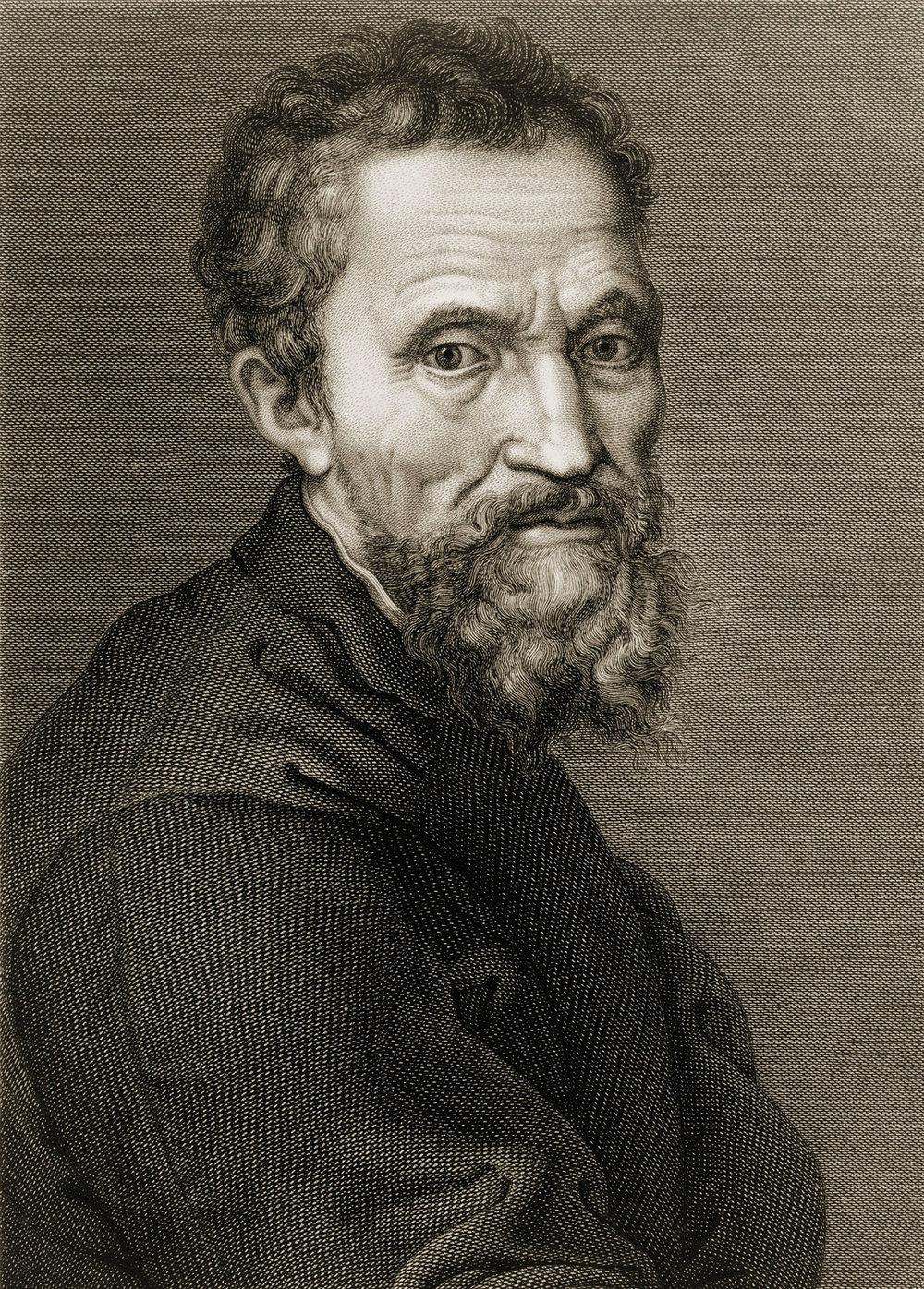 作為文藝復興時期的藝術巨匠,米開朗基羅因其雕塑作品「哀悼基督」,「大衛」和為西斯廷教堂繪製的天頂而聞名於世。Everett Historical / Shutterstock