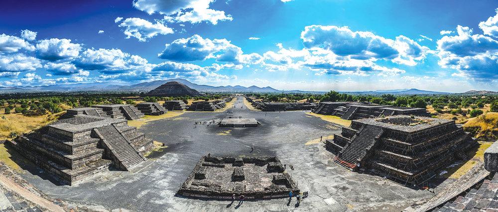 特奧蒂瓦坎是早於瑪雅文明約500年的古印第安文明,如今依然可以從規模龐大的遺址中看到其當日的輝煌繁盛。Rafal Kubiak / shutterstock.com