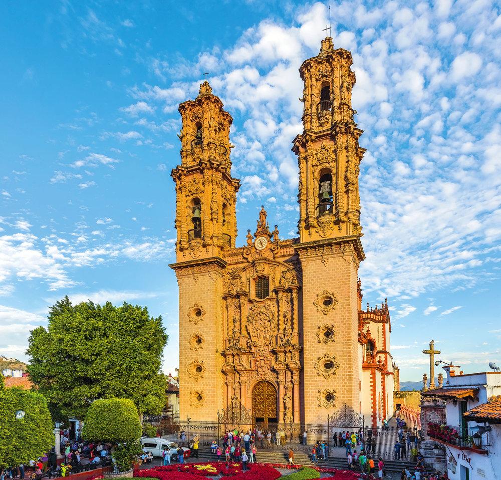 裝飾極盡精緻的聖普里斯卡教堂曾是墨西哥最高的建築。