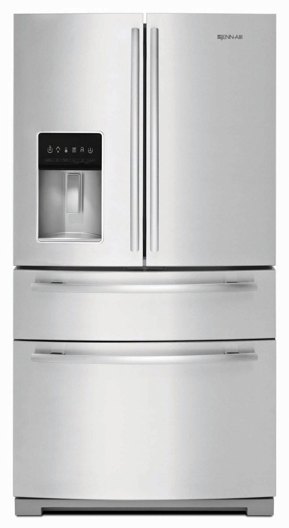 四門獨立式冰箱,附帶飲料機 At Trail Appliances, (604) 278-6133, jennairblack.ca