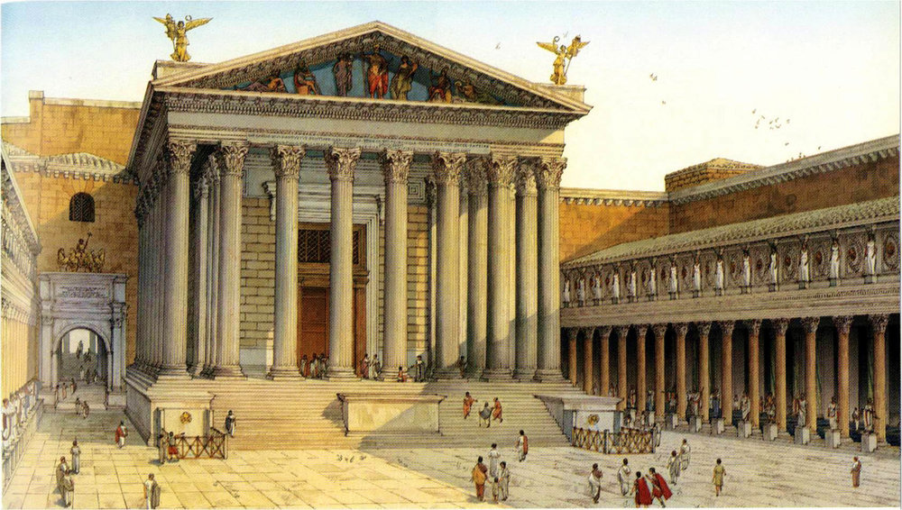 羅馬戰神殿復原圖