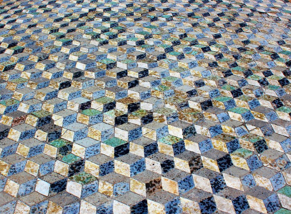 意大利龐貝古城廢墟中的磁磚