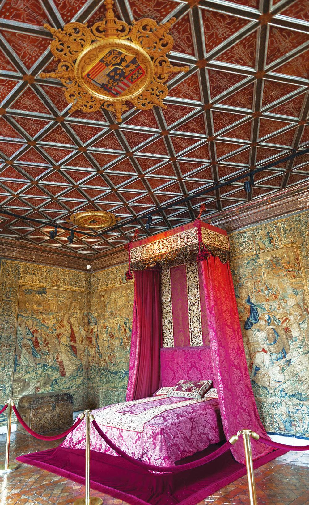亨利二世的王妃凱薩琳.德.美第奇的臥室,曾住過五位皇后。Yuri Turkov / shutterstock.com