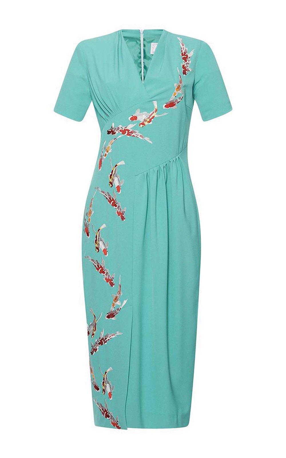 Luminosa Short Sleeve V-Neck Dress by Stella Jean US$1,100 短袖V領連衣裙