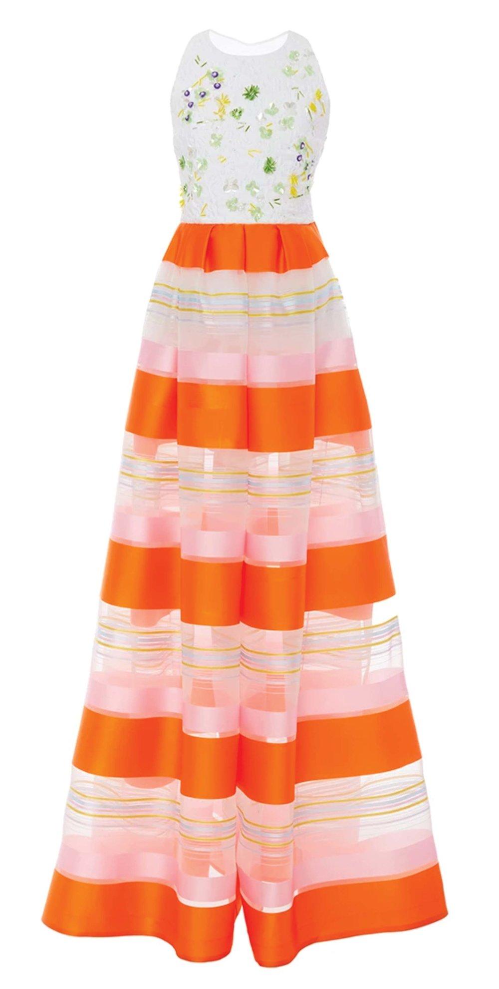 Striped Sleeveless Jumpsuit by Delpozo $7,409 坎袖連褲裙