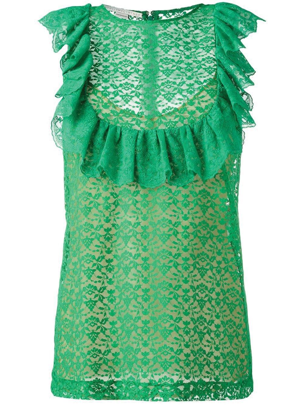 Flounce Sleeveless Blouse by Stella McCartney $1,276 斯特拉.麥卡特尼坎袖上衣