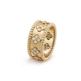 梵克雅寶四葉草裝飾戒指