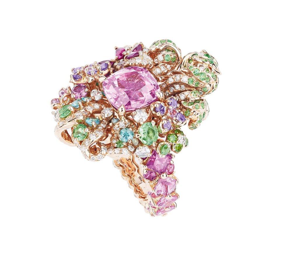 迪奧寶石粉色戒指