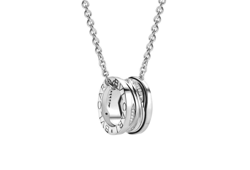 18K白金鑽石項鍊