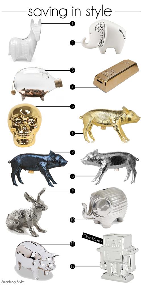 Jonathan alder bank, kate spade bank, elephant bank, piggy bank,