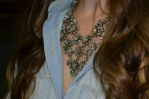 J.Crew Crystal Floral Satement Necklace