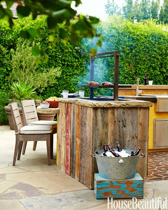 outdoor grill, bachelor pad