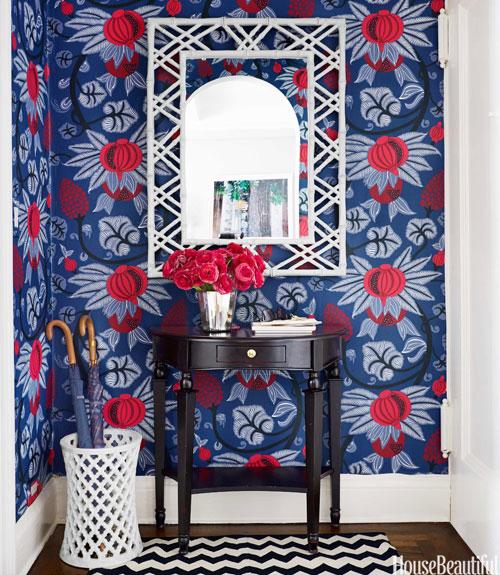 Osborne and Little Maharani wallpaper, House Beautiful